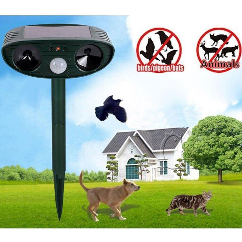 Ultrasonic Animal Pest Repeller Solar Powered Repellent Cat Dog Motion Deterrent