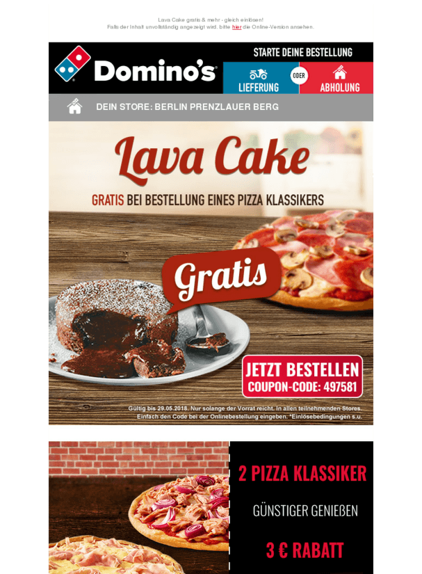 Susser Start In Die Woche Gratis Lava Cake Essentrinken Https Deal Held De Suesser Start In Die Woche Mit Bildern Essen Und Trinken Lebensmittel Essen Lavakuchen