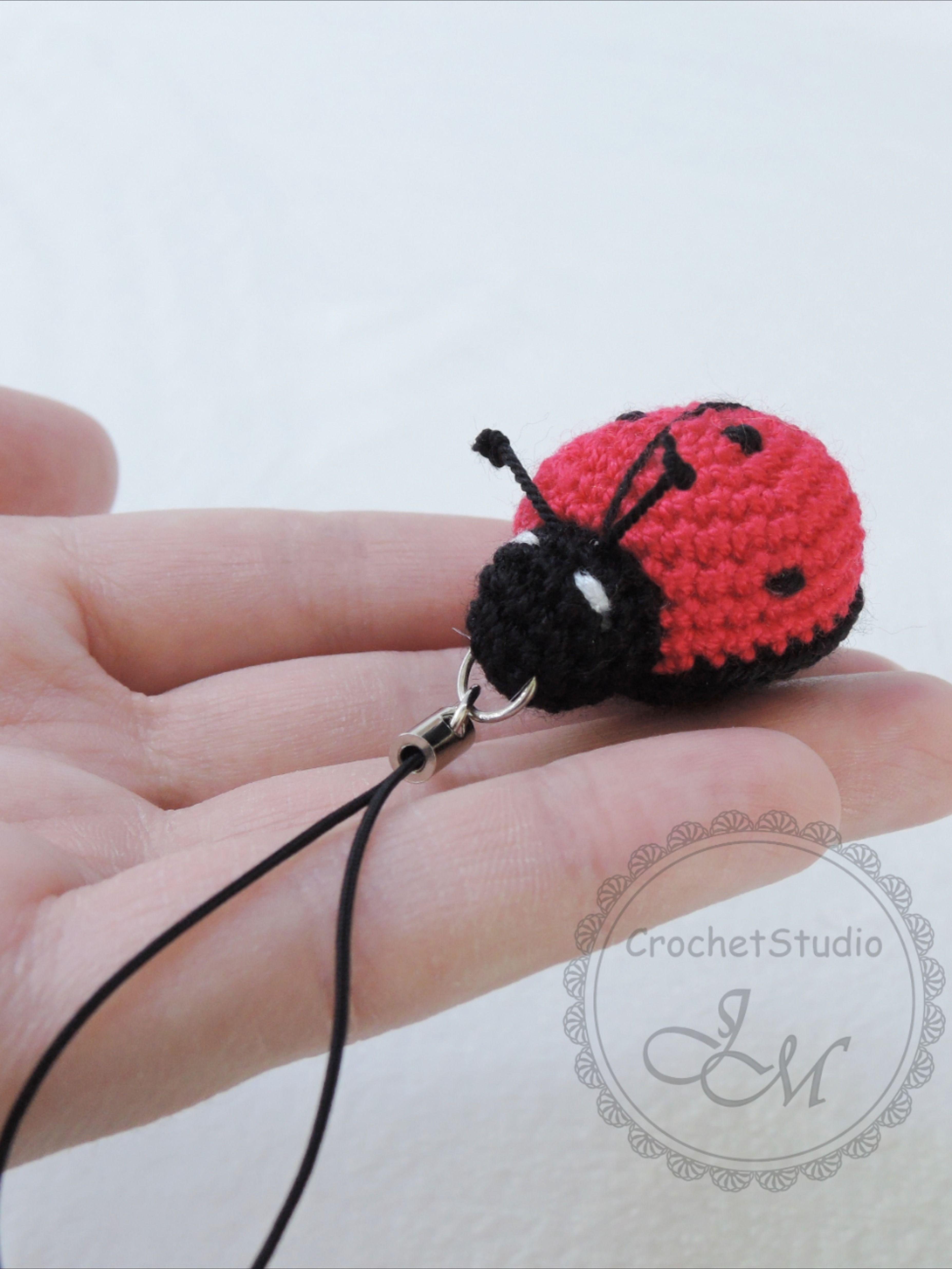 Crochet Lady Bug keychain