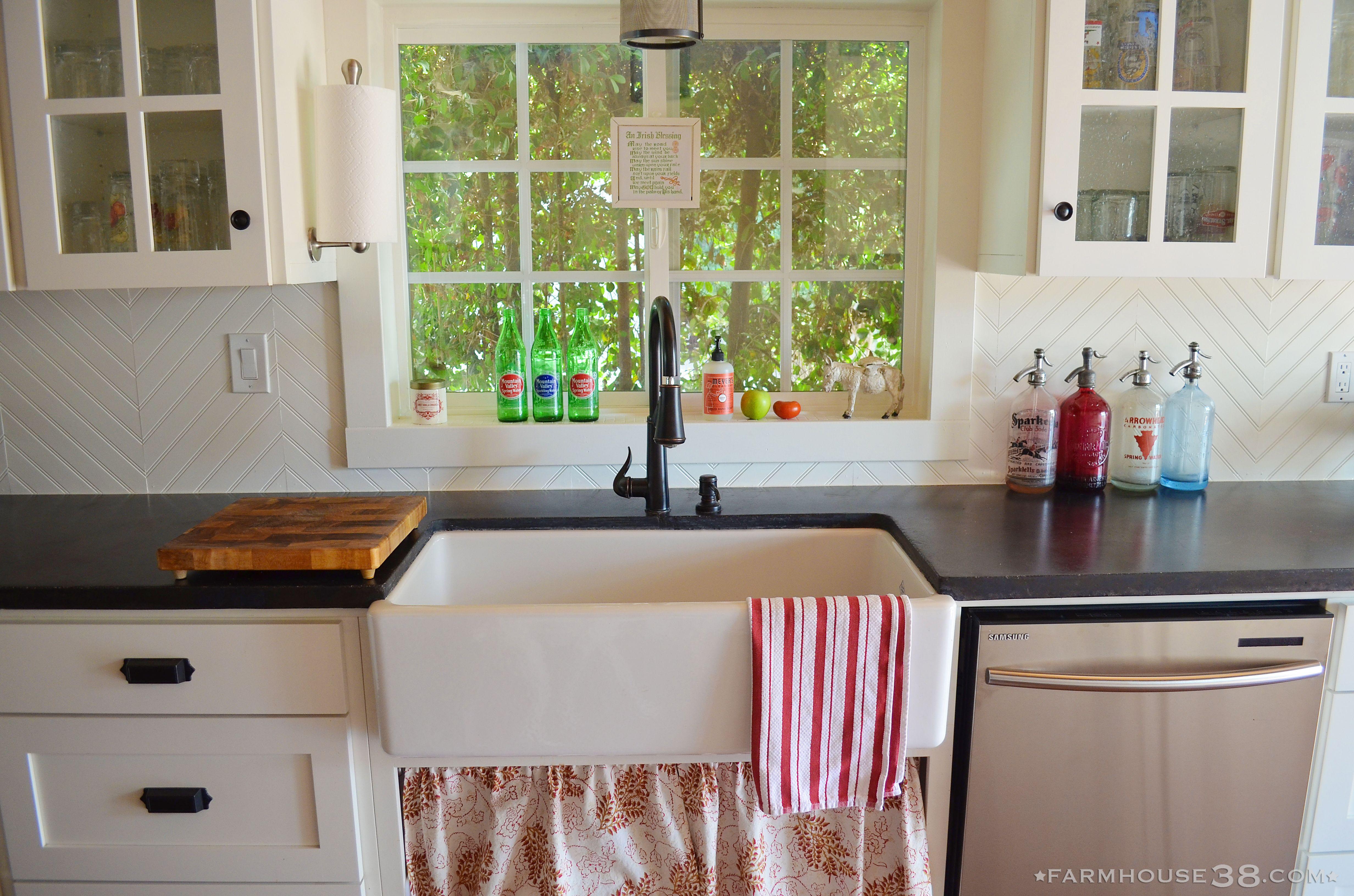 Diy Herringbone Beadboard Backsplash Beadboard Kitchen