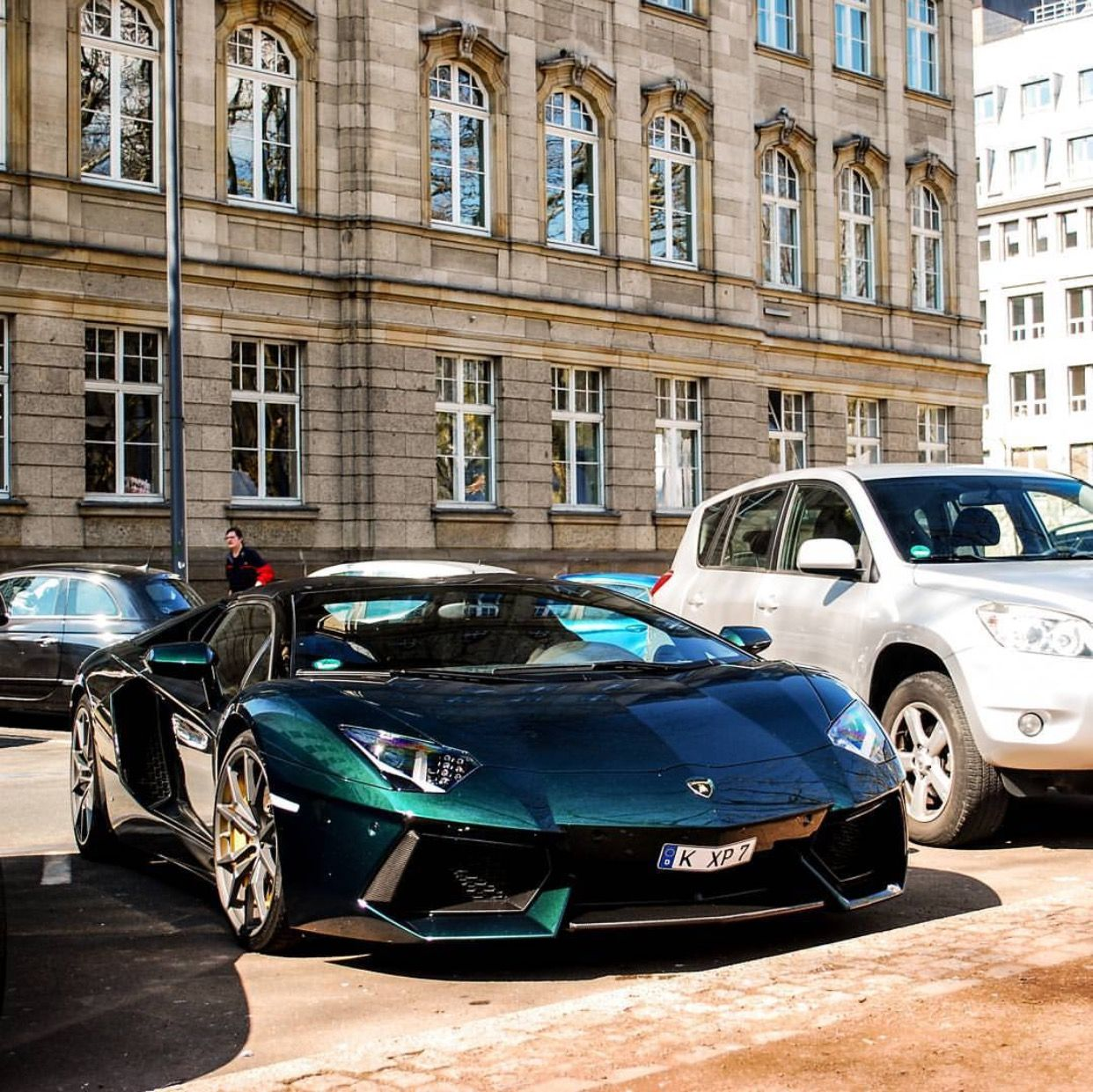 Lamborghini Aventador Roadster Painted In Verde Hydra Photo Taken By:  @next_gear On Instagram