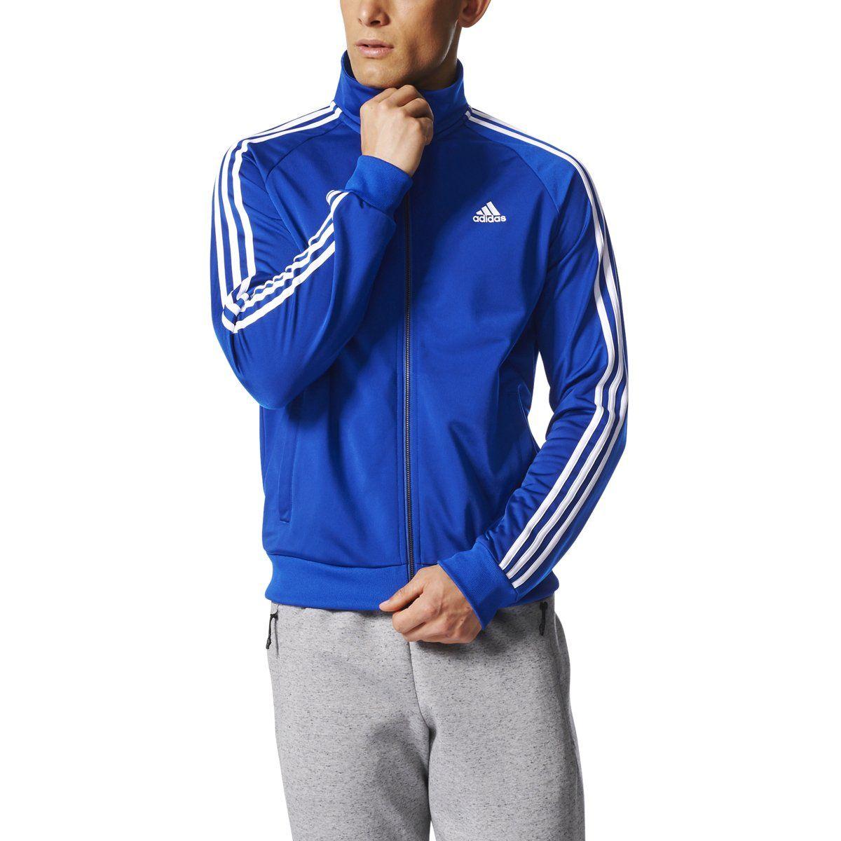 a70319f82372 adidas Essentials 3S Tricot Track Jacket Men's All Sports | CD8760 ...