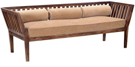 Buy Langenberg Three Seater Sofa In Provincial Teak Finish By Amberville Online Sofa Sets Sofas Pepperfry Three Seater Sofa Sofa Set Seater Sofa