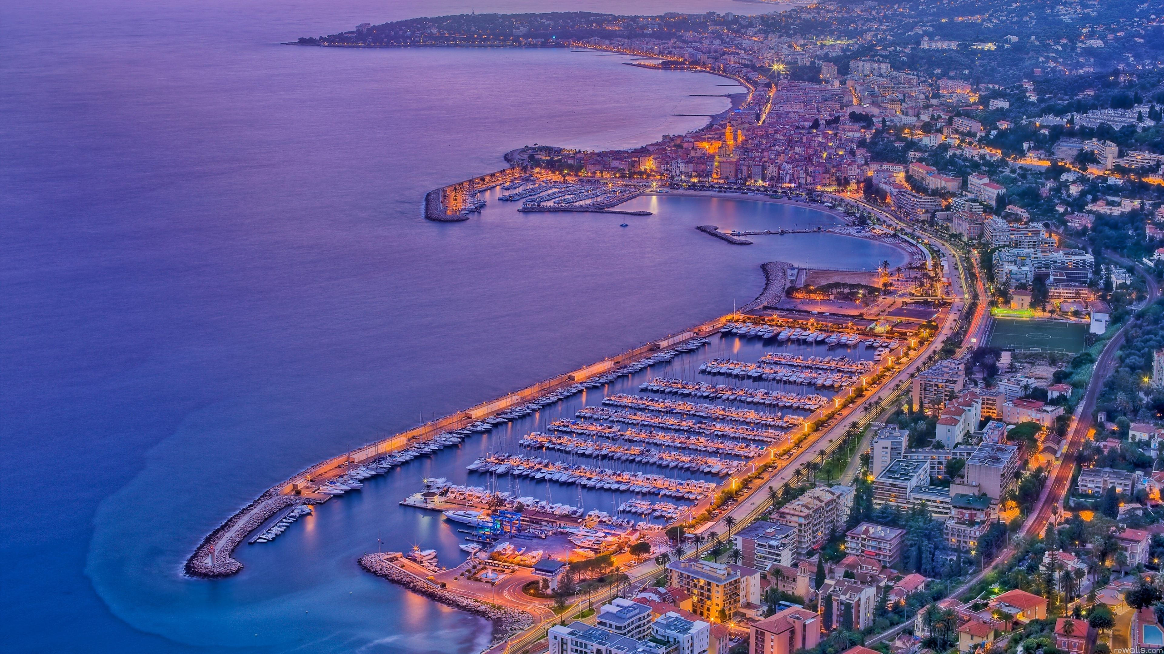 Menton France Aerial View 4k Ultra Hd Wallpaper