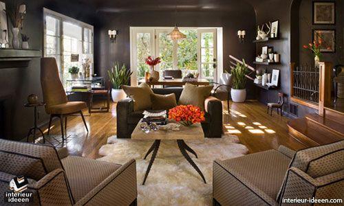 Huiskamer Interieur Ideeen.Bruine Woonkamer Voorbeelden En Bruintinten Woonkamer Interieur