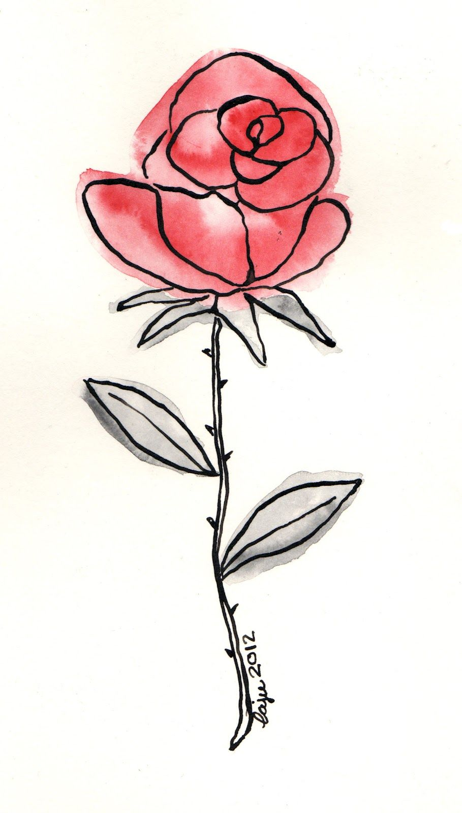 dibujo rosa - Google Search | Dibujo de rosas, Dibujos, Tatuaje de ...