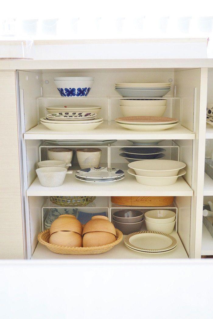 お気に入りの食器棚の収納 食器棚 収納 お皿 収納 食器棚