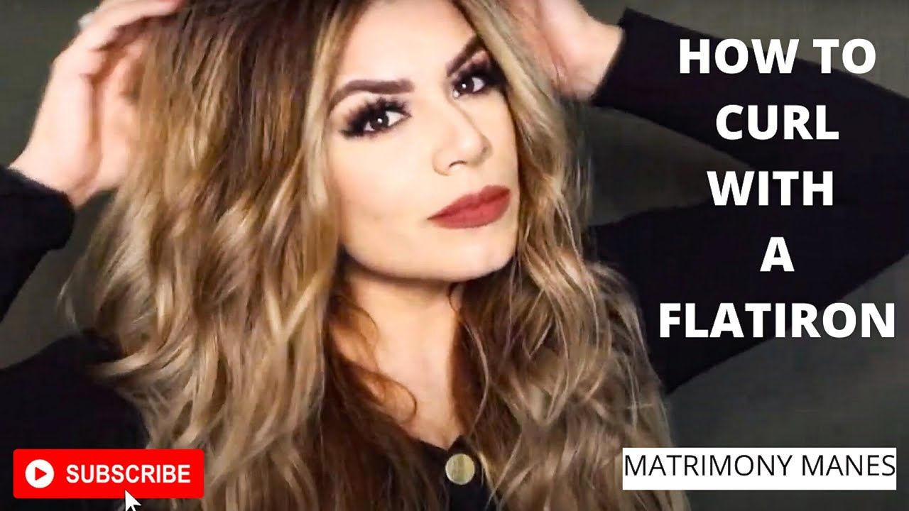 HOW TO CURL WITH A FLATIRON | WAVES with flat iron #WAVES #FLATIRON #CURLS