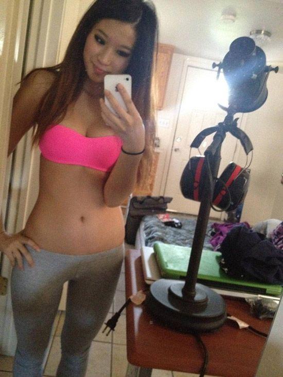 yoga pants girl Asian