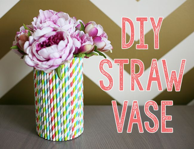 Diy Straw Vase Diy Entertaining Basteln