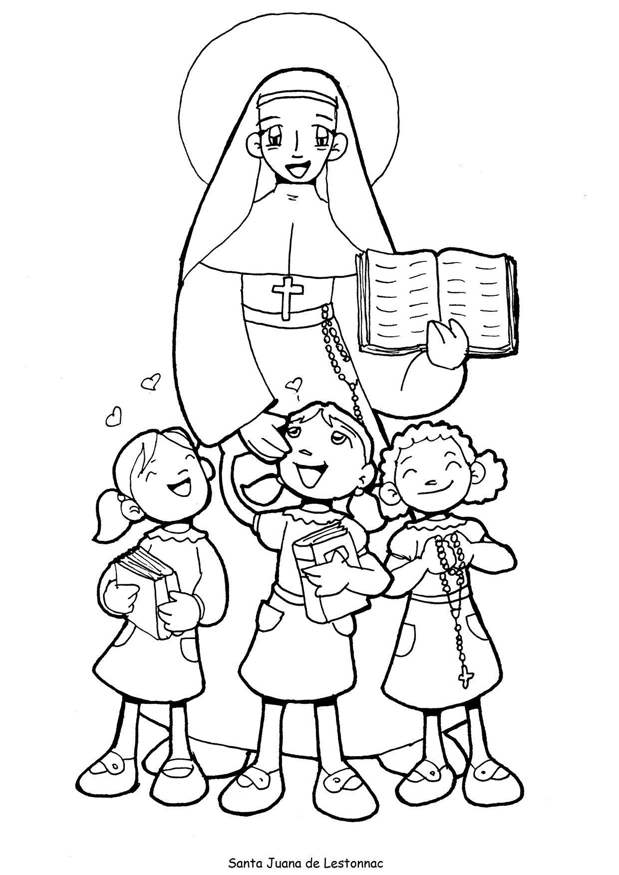 Santa Juana Lestonnac Para Pintar Pintar San Juan
