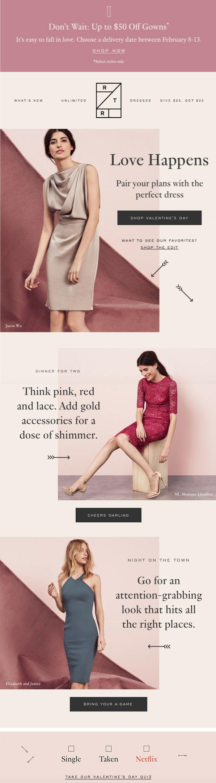 Rent The Runway Marketing Fashion Layout Fashion Newsletter Email Marketing Design Inspiration