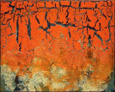 """Frank Cappello; Painting, """"Orangecrack"""