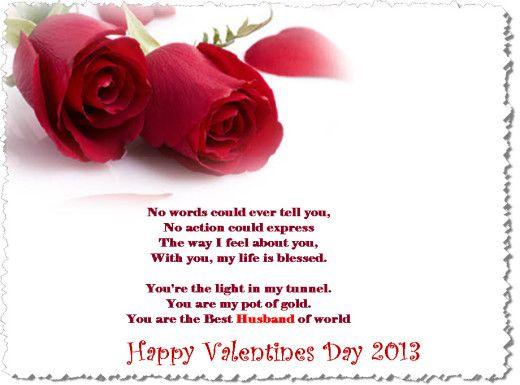 homemade valentine cards for husband  valentineday2013Peom