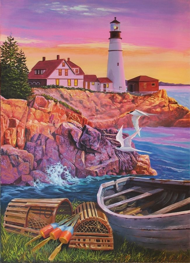 Lighthouse Cove 275pc Easy Handling Puzzle by Cobble