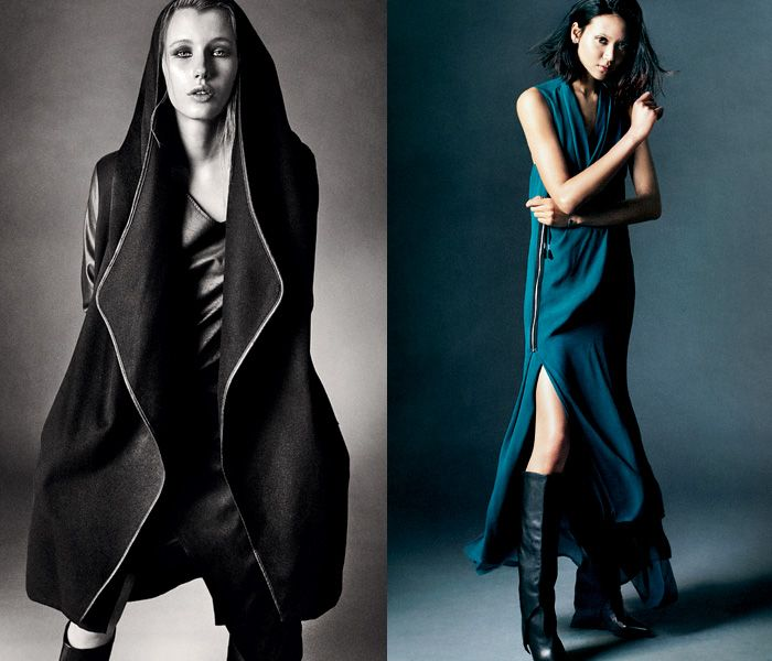 (01a) Womens Coat Dome - (01b) Womens Dress Idona - Tiger of Sweden / Jeans 2013-2014 Fall Winter Lookbook