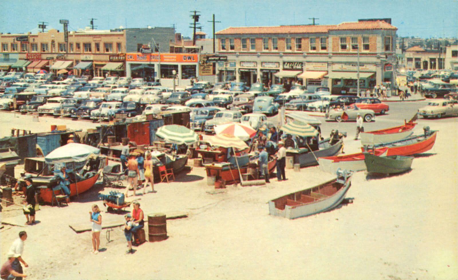 Fish Market At Newport Beach Circa 1952 With Images Newport Beach California Newport Beach Capistrano Beach