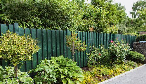 Zaun als Sichtschutz selber bauen Garten Pinterest