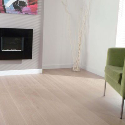 Kronotex Waveless Oak White 4v Laminate Flooring At