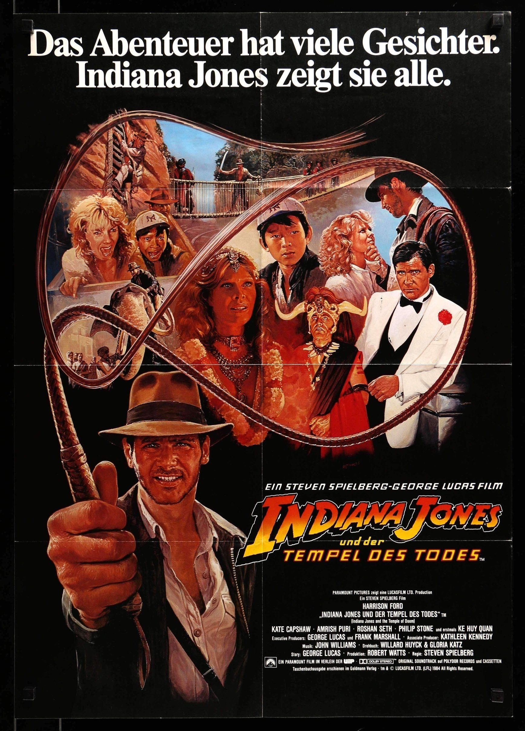 Indiana Jones And The Temple Of Doom 1984 Indiana Jones Indiana Jones Films Indiana