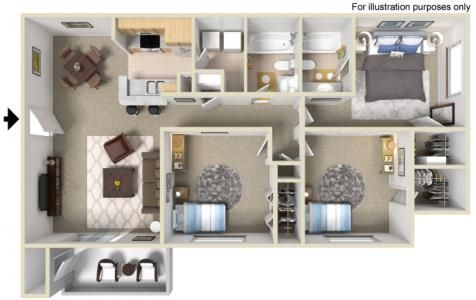 C1 3 Bedrooms 2 Bathrooms 1 141 Sq Ft Sims House Design Sims House House Floor Plans
