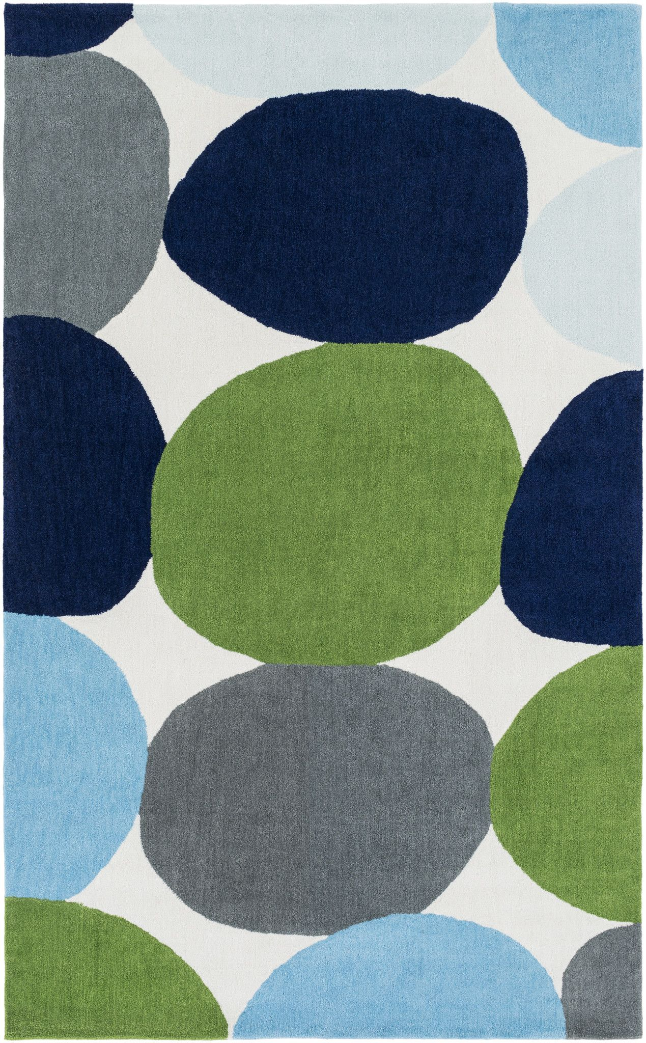 Surya Leap Frog Area Rug Blue, Gray