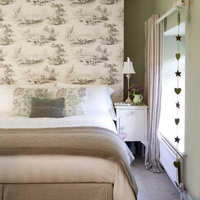 Ideas para decorar un dormitorio con papel pintado y pintura ideas para rec mara papel - Como decorar con papel pintado ...