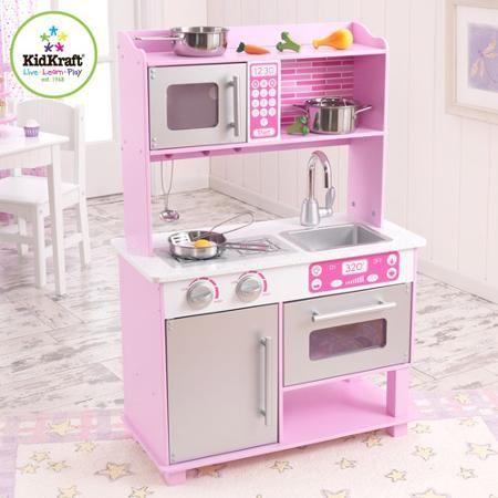 Bon KidKraft Pink Toddler Kitchen With Accessories