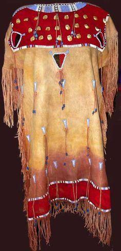 nez perce indian beaded dress | Native American buckskin dress