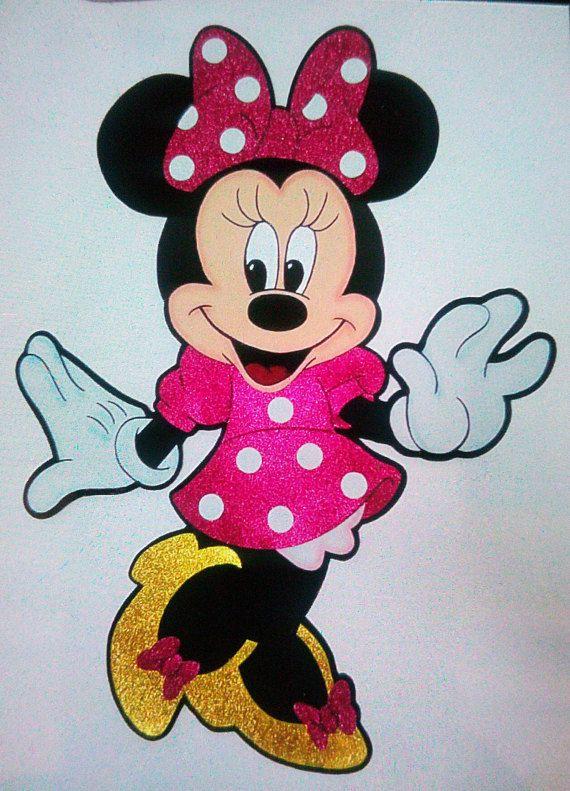 Minnie In Rubber Eva Foami Dibujos De Minnie Mouse