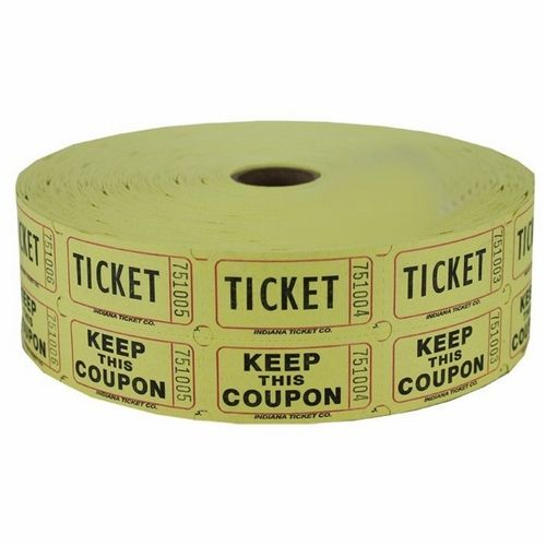 Yellow Double Raffle Ticket Roll  Raffle Tickets