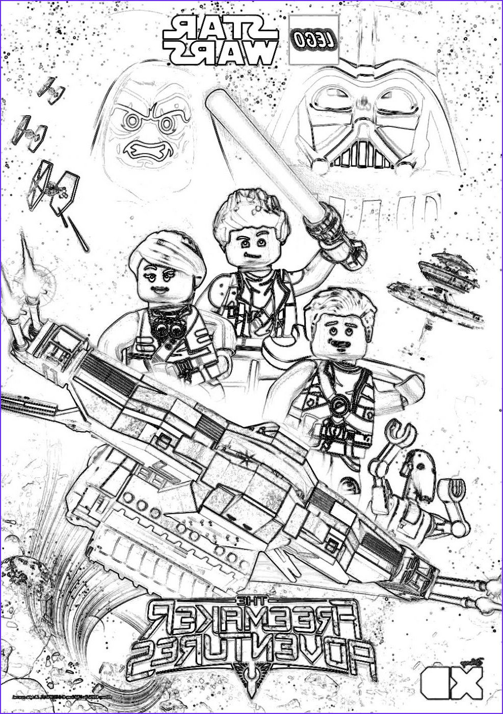Lego Star Wars Coloring Pages The Freemaker Adventures Ilustracao Crianca Criancas Ilustracao [ 1400 x 987 Pixel ]