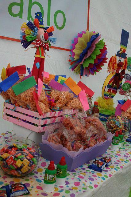 Detalle payaso en 2019 kids parties candy bar party for Mesas de dulces infantiles