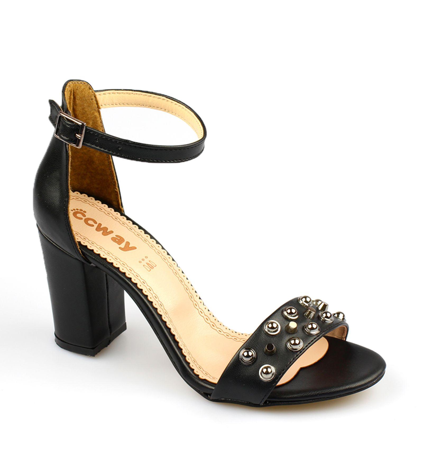 Bayan Topuklu Sandalet 0630 Siyah Suet Sandalet Topuklu Sandalet Topuklular