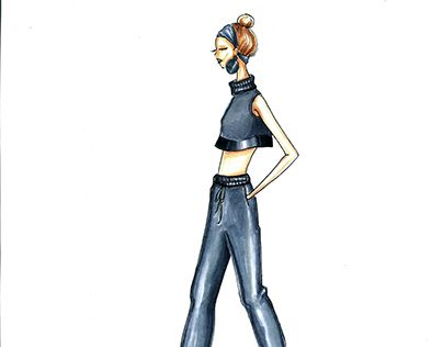 """Check out new work on my @Behance portfolio: """"Activewear Concept Sketch"""" http://be.net/gallery/48755061/Activewear-Concept-Sketch"""