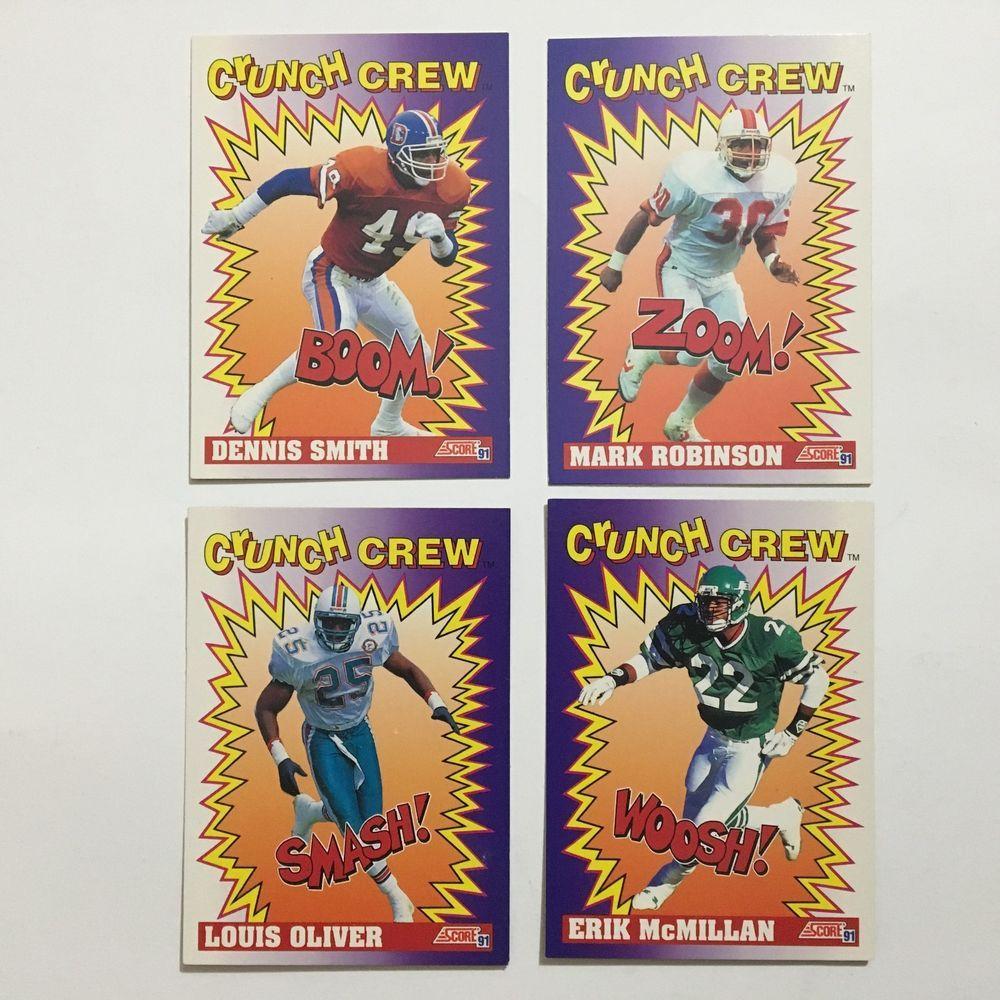 1991 score crunch crew 4 card set baseball trading cards