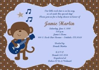 Rock star monkey baby shower invitation monkey baby shower invite rock star monkey baby shower invitation monkey baby shower invite rocker baby shower digital you print yourself 5x7 by cncdigitaldesigns on etsy solutioingenieria Images