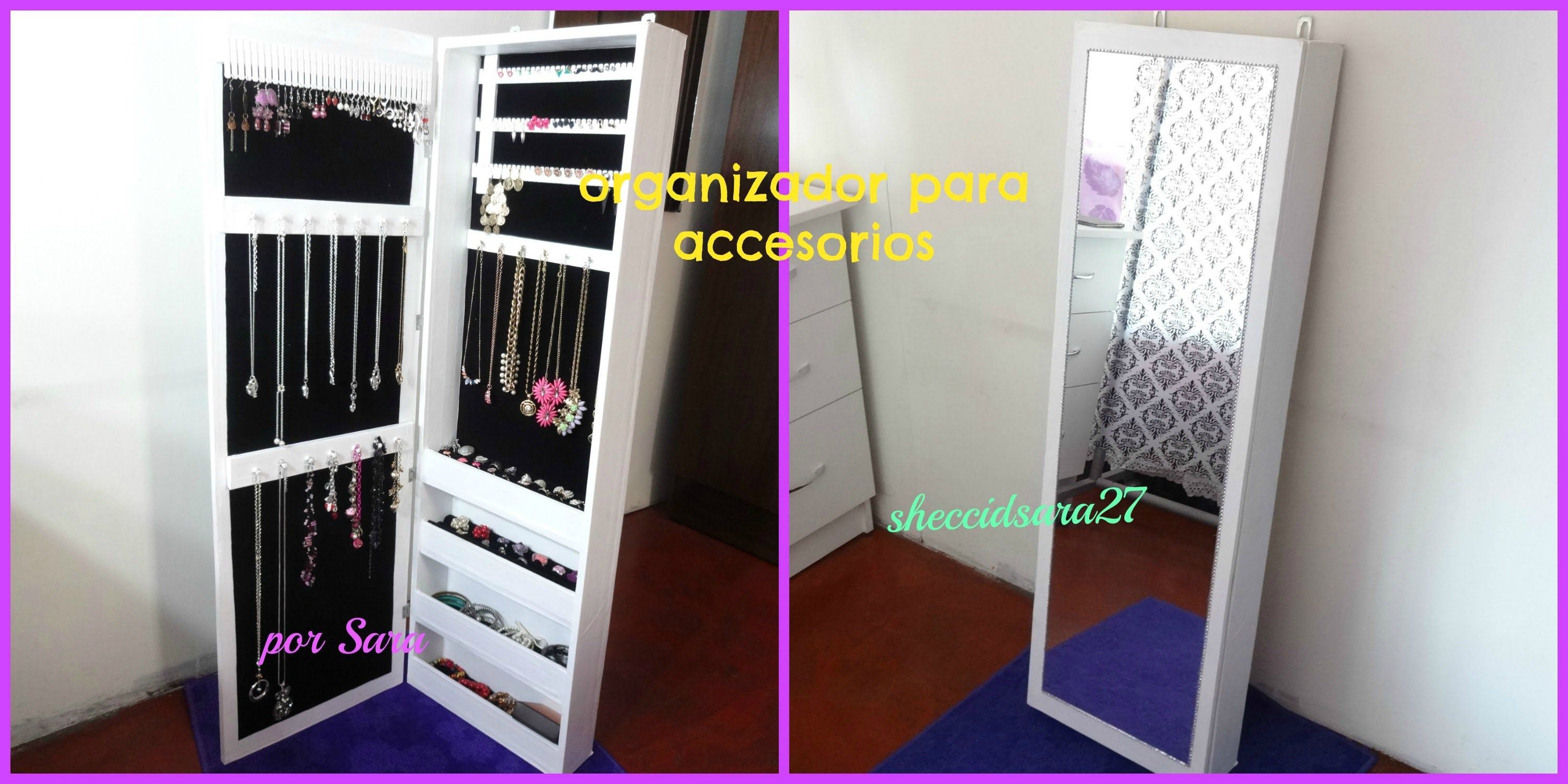 Diy Organizador De Cart N Para Accesorios Video Pinterest  # Muebles Diy De Carton