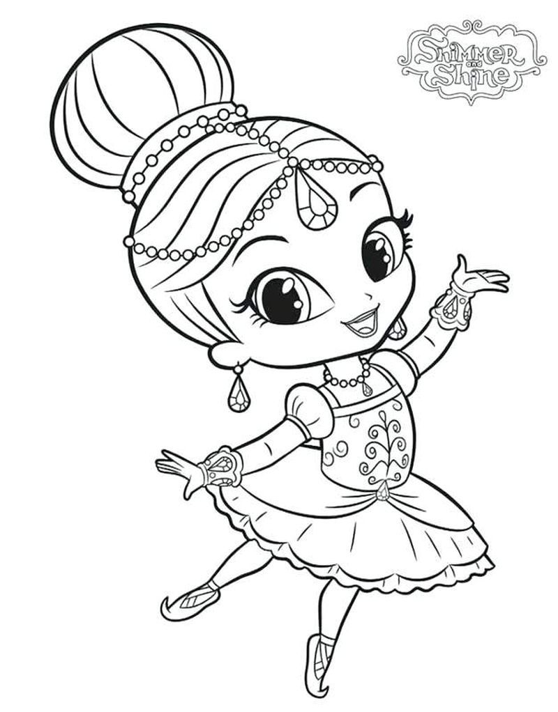 Printable Shimmer And Shine Coloring Pages In 2020 Szinezo