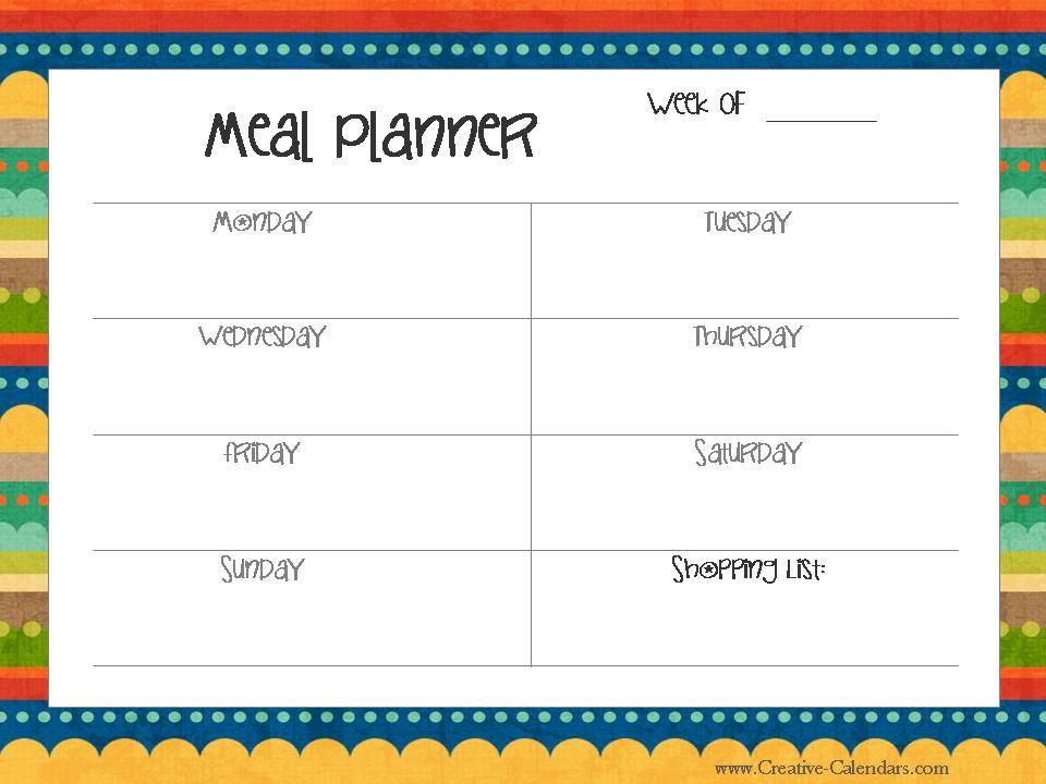 menu planner organizing Pinterest Menu planners, Planners and - excel spreadsheet template scheduling