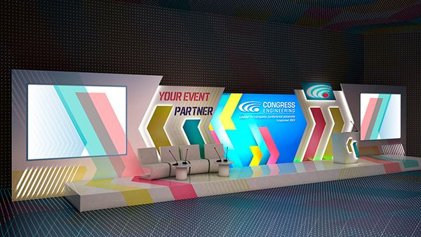 3d Project Corporate Event Stage Design Stage Backdrop Design