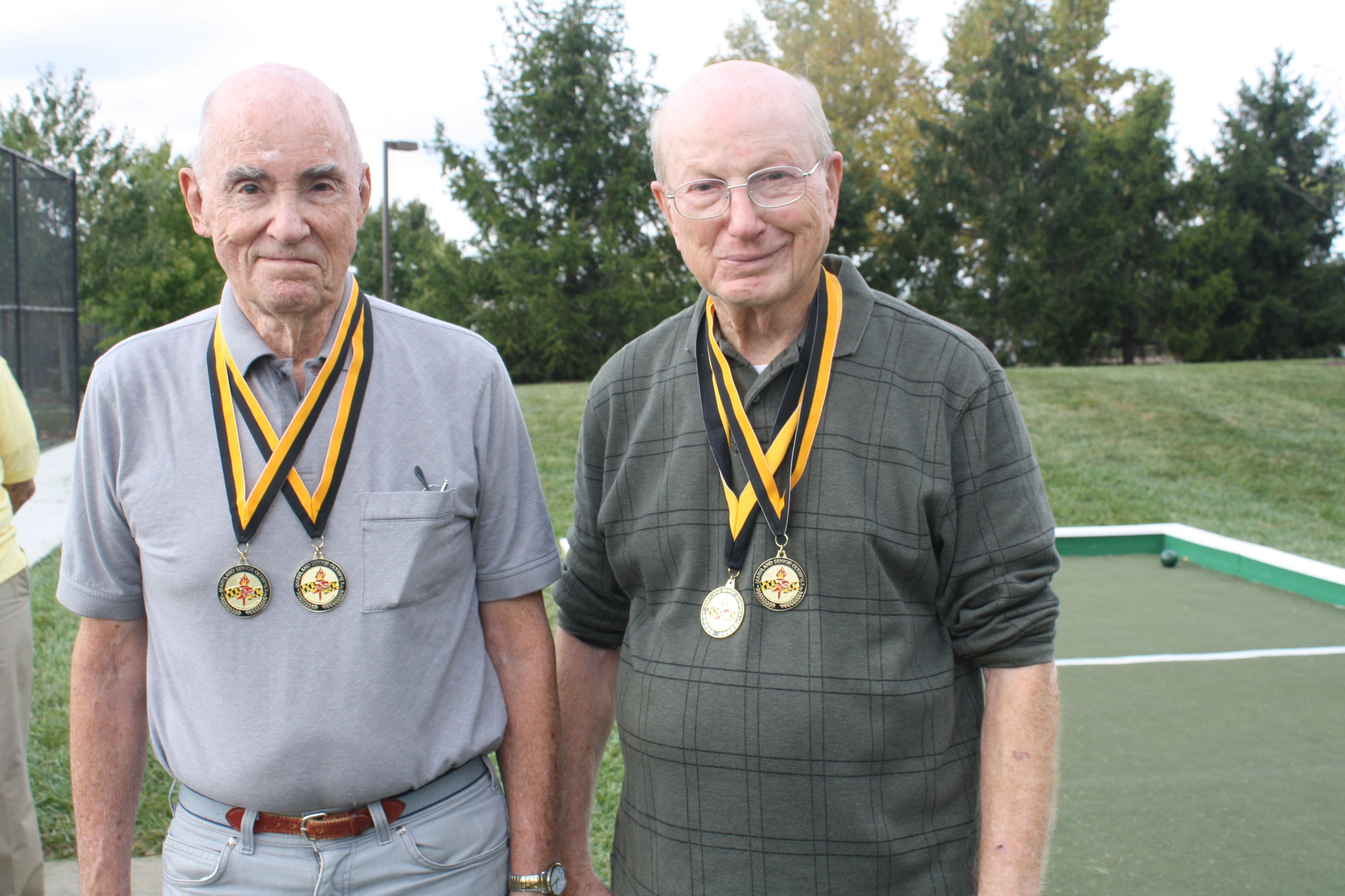 These two bocce pros remain active as they age.