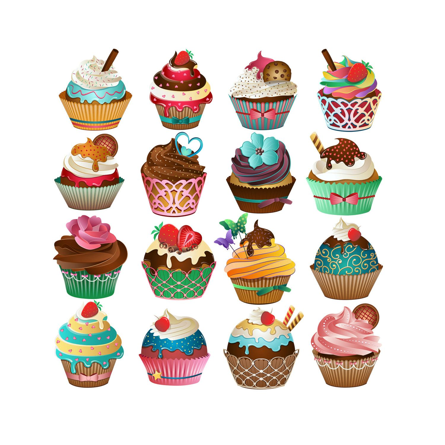 cupcake png clipart cupcake drawing pastry pastel - HD 1500×1500