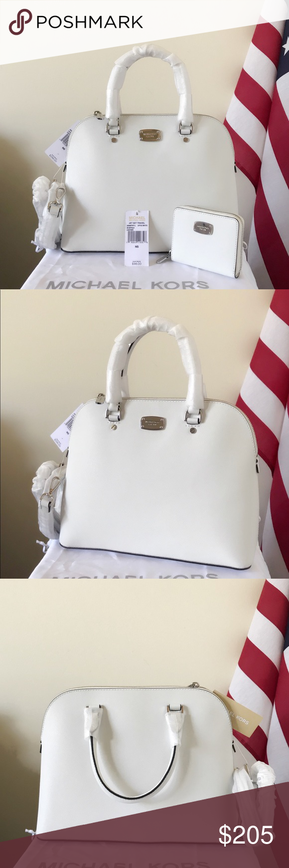 1997031a6827 NWT Michael Kors Cindy Large Dome Set Beautiful and adorable set! Optic  white with silver