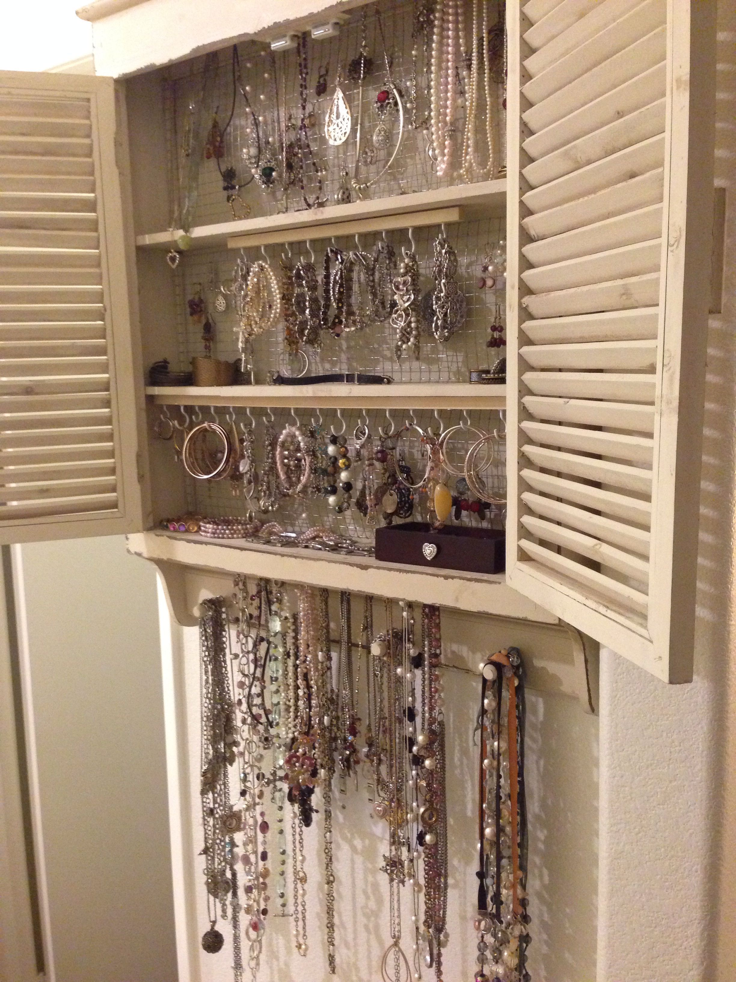 Diy Jewelry Organizer I Made Today Added The Hooks And