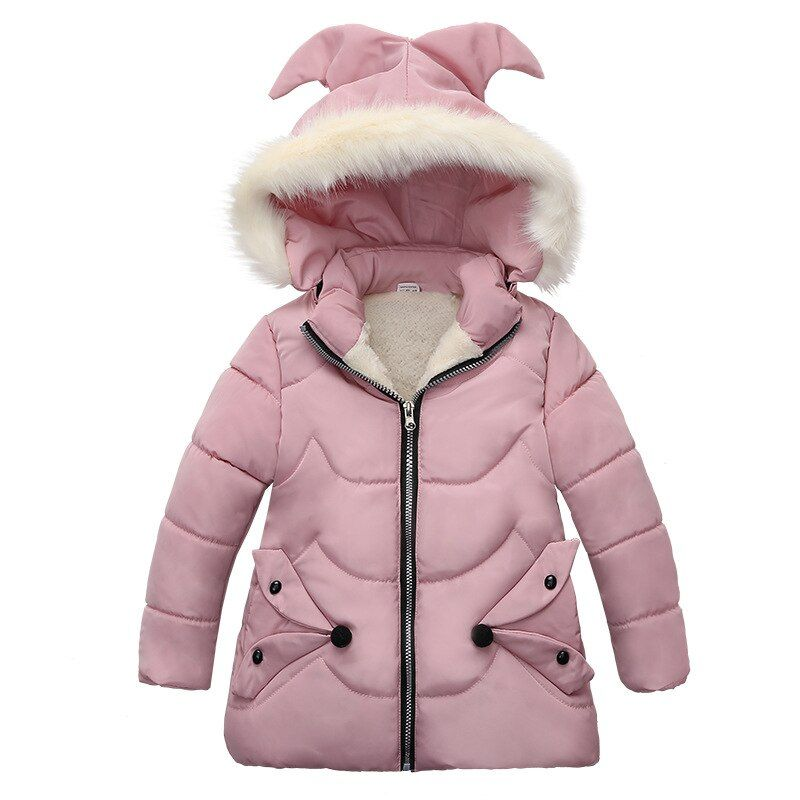 Winter Warm Kids Baby Girls Coat Hooded Jacket Padded Clothes Outerwear