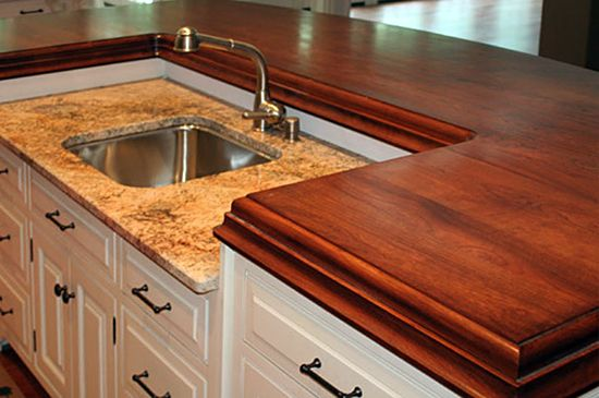 wood countertops butcher block countertops for kitchen countertops with undermount sinks  photos of wood bar tops with durata   waterproof finish  wood counter top   cool   pinterest   granite kitchen granite and      rh   pinterest com