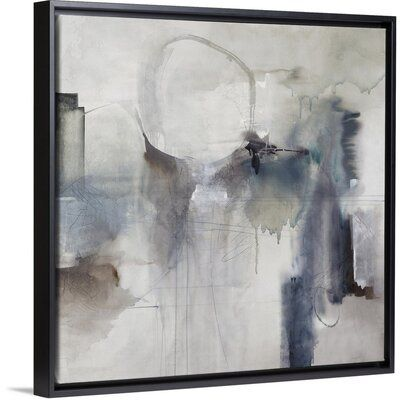 Orren Ellis Effluent Ii Painting On Canvas Format White Floater Frame Size 17 7 H X 17 7 W X 1 75 D In 2020 Canvas Painting Painting Canvas