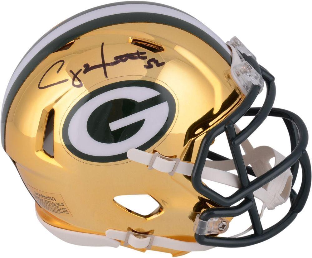 Autographed Clay Matthews Packers Mini Helmet Item 9068508 Football Helmets Football Helmets For Sale Football