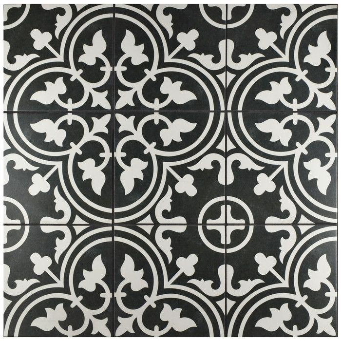 Artea 10 X 10 Porcelain Spanish Wall Floor Tile Porcelain Flooring Floor And Wall Tile Black And White Tiles